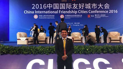 Wellington participa de abertura da Conferência Internacional das Cidades Irmãs da China