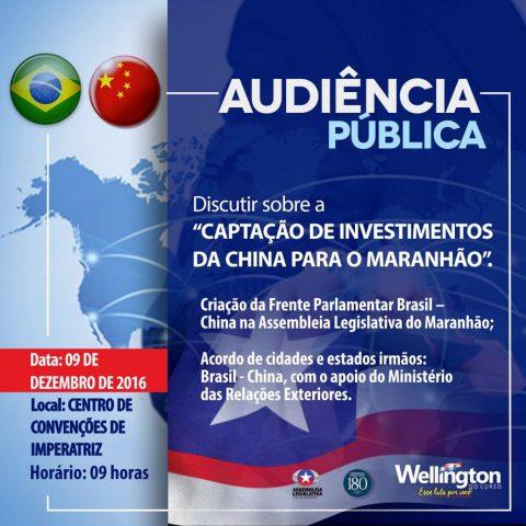 Deputado Wellington convida população para Audiência Pública em Imperatriz