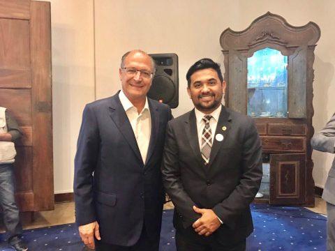 Em São Paulo, Deputado Wellington participa de reunião com Geraldo Alckmin
