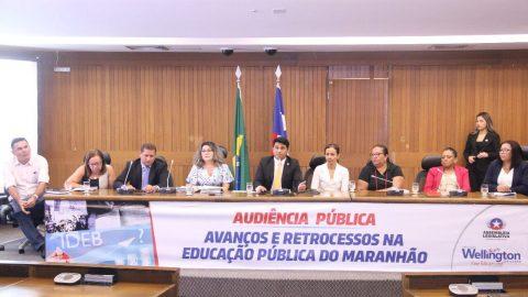 """""""Há mais retrocessos do que avanços na educação de São Luís"""", diz deputado Wellington em Audiência Pública"""