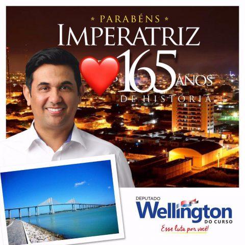 Deputado Wellington apresenta ações em defesa de Imperatriz ao parabenizar o município