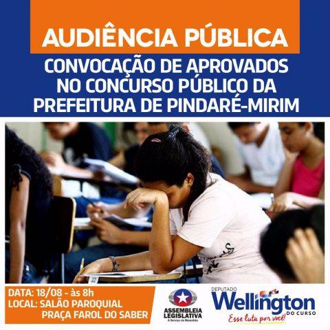 Deputado Wellington convida população para audiência pública em Pindaré-Mirim