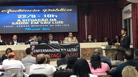 Deputado Wellington discute sobre a situação da saúde pública em São Luís