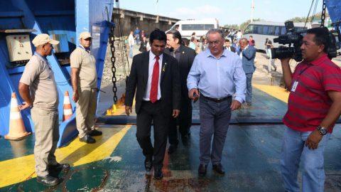 Deputado Wellington fiscaliza Terminal de ferry-boat no Maranhão, cobra licitação e melhorias do Governo do Estado