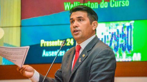 """""""É por causa da corrupção que falta merenda nas escolas e remédio nos hospitais"""", diz deputado Wellington ao apresentar Projeto de Lei"""