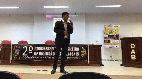 """Deputado Wellington defende acessibilidade durante """"2º Congresso da Lei Brasileira de Inclusão"""" em Imperatriz"""