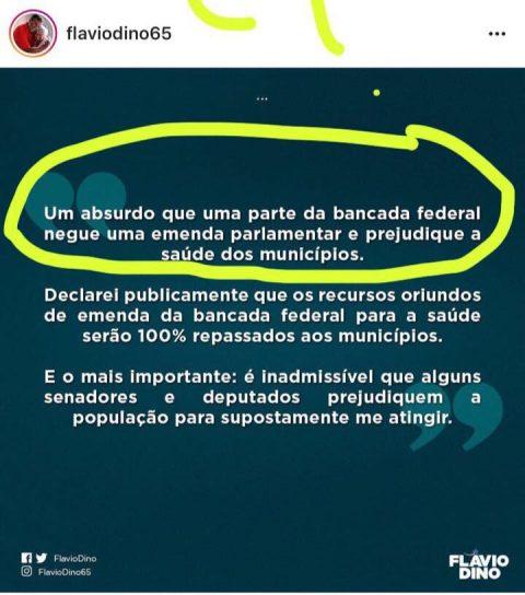 """""""Flávio Dino reclama por não receber emendas da bancada federal, mas dá calote e não paga emendas de alguns deputados estaduais"""", dispara Deputado Wellington"""