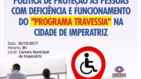 Deputado Wellington convida população para audiência que discutirá os direitos das pessoas com deficiência em Imperatriz