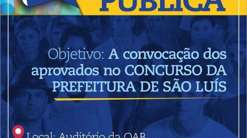 Deputado Wellington realizará audiência para discutir convocação de aprovados no concurso da Prefeitura de São Luís