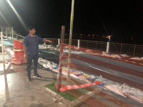 Deputado Wellington faz visita de inspeção à Beira-Rio em Imperatriz e constata graves problemas na obra superfaturada