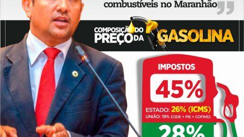 """""""Só na propaganda de Flávio Dino pra gasolina ser algo barato"""" diz deputado Wellington ao cobrar redução de ICMS"""