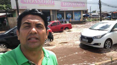"""""""Obra de péssima qualidade no retorno do aeroporto e um Portal superfaturado: é essa a parceria de Flávio Dino com o prefeito de São Luís"""", diz deputado Wellington"""