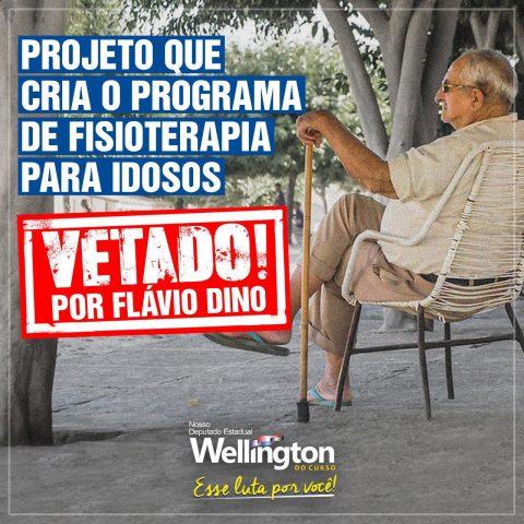 Flávio Dino veta projeto do deputado Welllington que beneficiaria milhares de idosos no Maranhão