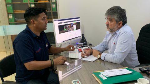 Deputado Wellington se reúne com o responsável pelo Centro de Valorização da Vida e Combate ao Suicídio no Maranhão