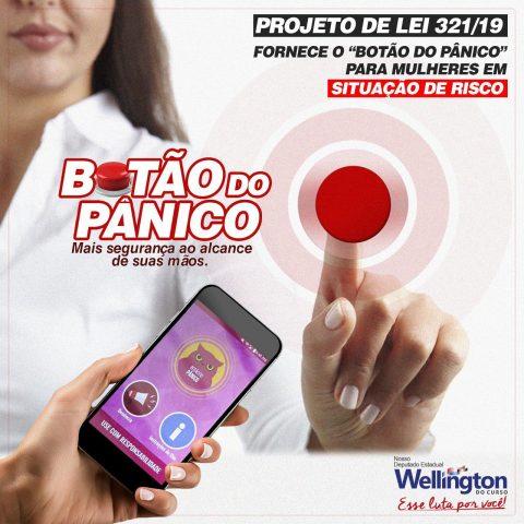 """Aprovado na CCJ projeto do deputado Wellington que fornece """"botão do pânico"""" para mulheres em situação de risco"""