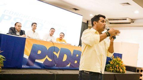 """""""Reafirmo que sou pré-candidato à prefeitura de São Luís"""", diz Wellington do Curso em Congresso do PSDB"""